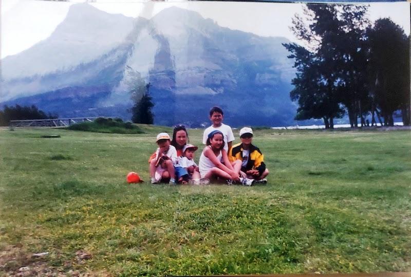 Hyun Ho Cho family photo at Waterton Lakes National Park.