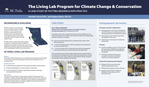 BC Parks Living Lab Program Climate Change 2021