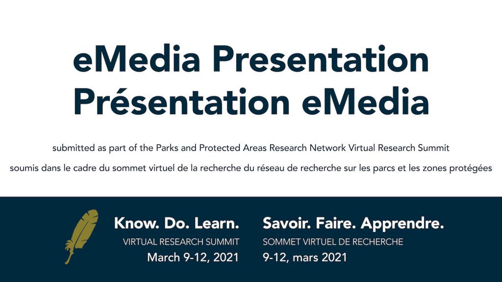 Présentation eMedia pour le CPCIL Virtual Research Summit