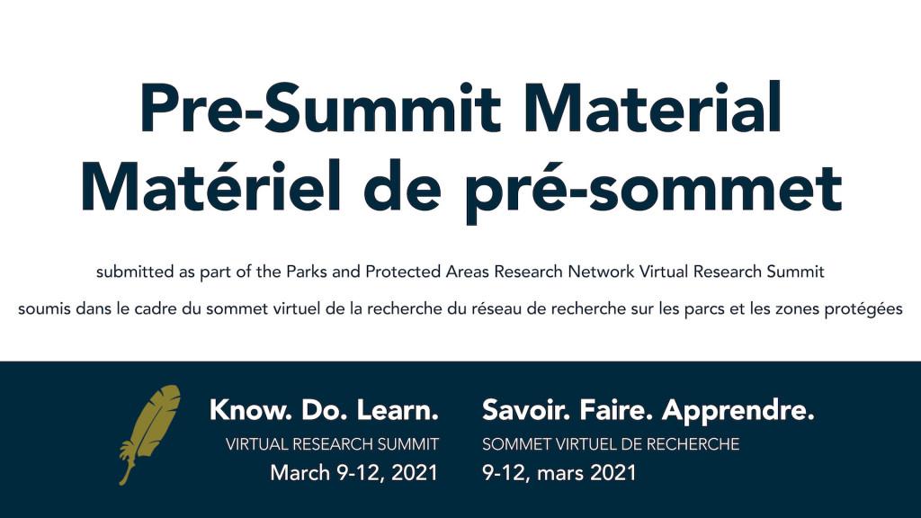 Matériel pré-sommet, Vers la réconciliation: 10 appels à l'action aux spécialistes des sciences naturelles travaillant dans les aires protégées canadiennes