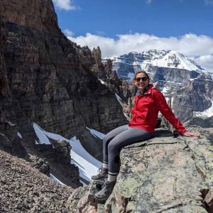 Photo of Rachel Goldstein in nature.